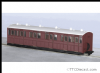 Peco GR-400U OO-9 L&B Composite Coach Indian Red Unlettered